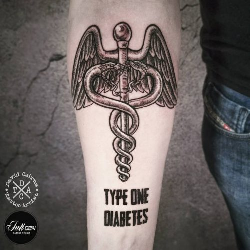 Diabetes sketch style tattoo