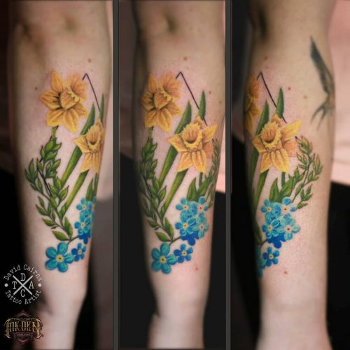 botanical piece recently done by David Cairns at Inkden