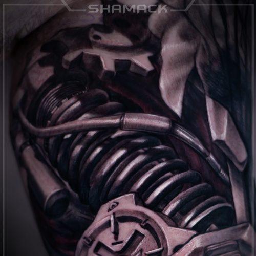 Biomechanical-tattooss-zbrush-3d-realism-Shamack-Inkden-2